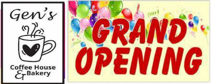 Coffee Shop Grand Opening March 17 - 19