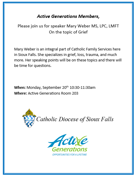 Catholic Family Services presentation on Grief