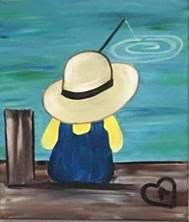 Little Child Fishing Art Class