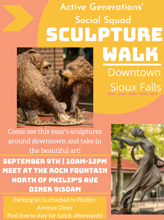 Sculpture Walk with the AG Social Squad