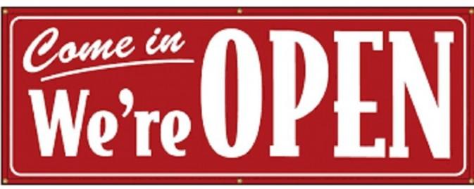 Open for Most Activities
