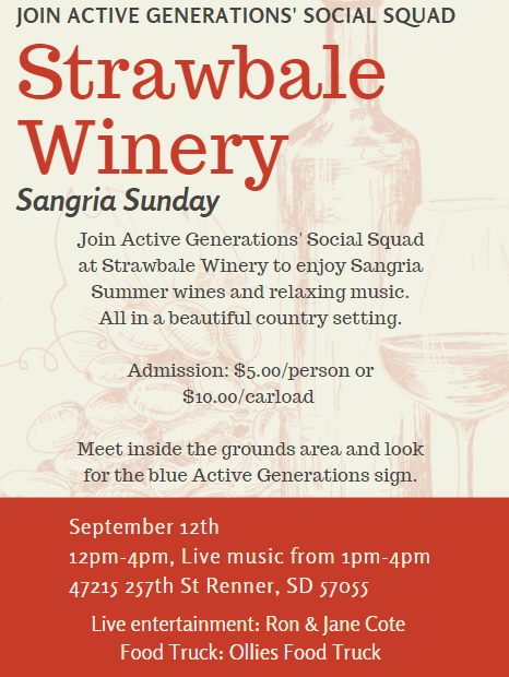 Strawbale Winery Sangria Sunday with the AG Social Squad